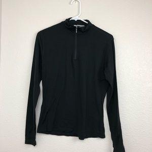 Smartwool 1-4 zip black base layer large